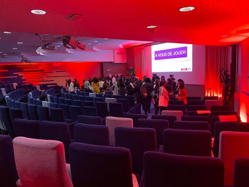 Petite mise en lumière d'un auditorium de 370 places
